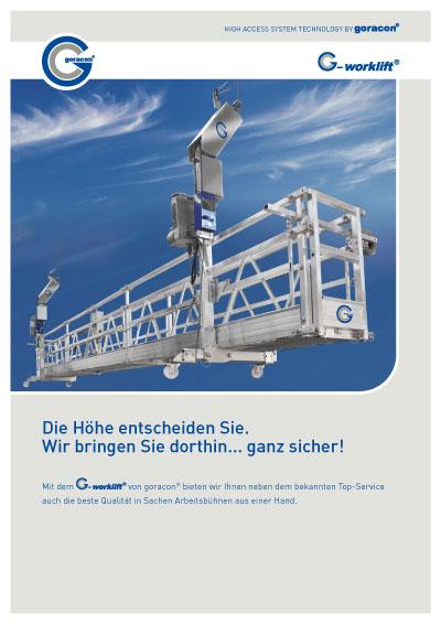 Datenblatt des G-worklift auf deutsch