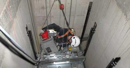 Fahrstuhl wird eingerichtet mit G-liftup